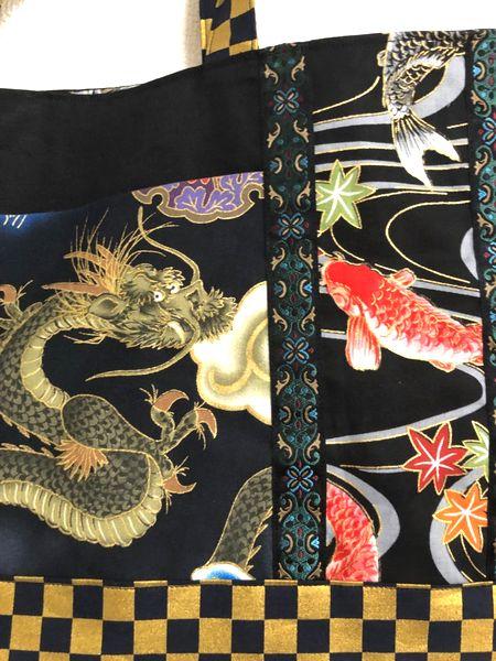 龍鯉ハンドメイド和柄通園バッグセット