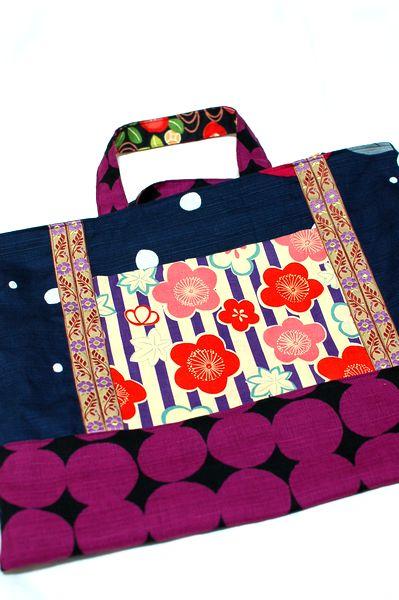 椿花柄和バッグ手作りセット