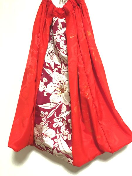 書道家衣装 和柄バルーンスカート