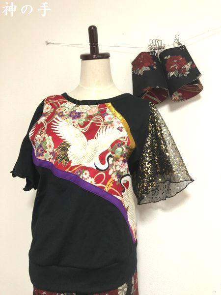 手作り和柄衣装女性用