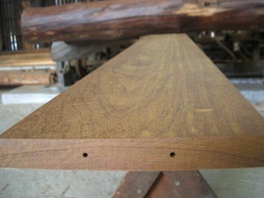 木口穴加工