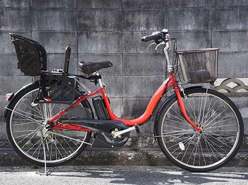 電動アシスト自転車ヤマハパスナチュラMサイドから