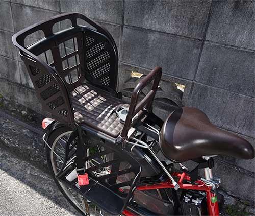 電動アシスト自転車ヤマハパスナチュラM後部のカゴ