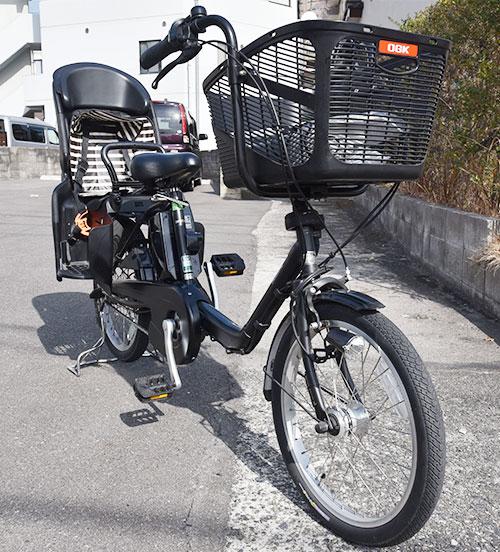 パナソニック電動アシスト自転車ギュットミニDXフロント部