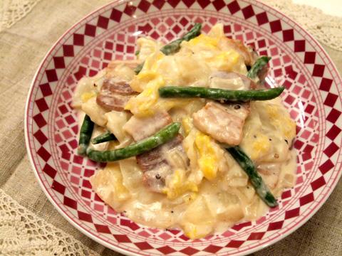 白菜と豚バラのミルク煮