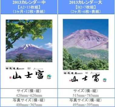 富士山カレンダー 2013 東海道表富士 マグナプロセス