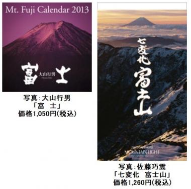 富士山カレンダー 2013 東海道表富士 佐藤功雲