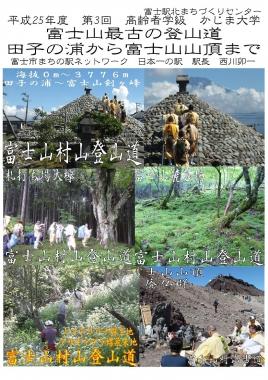 かじま大学 富士駅北まちづくりセンター 東海道表富士 村山古道