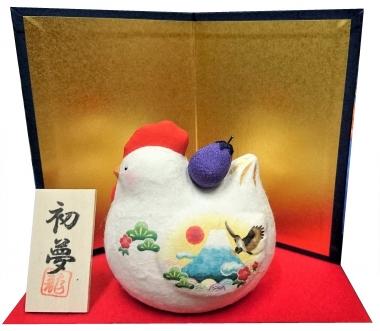 富士山 東海道表富士 西川卯一 正月飾り 酉 置物