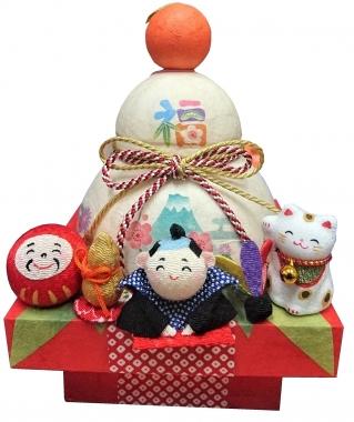 富士山 東海道表富士 西川卯一 正月飾り 酉 置物 鏡餅 ちぎり和紙