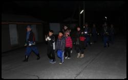 消防団員と子供会の夜警