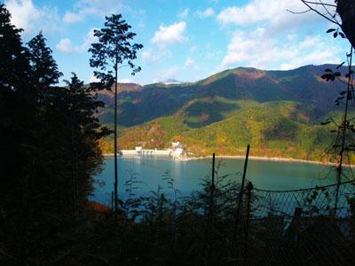 井川ダムの紅葉