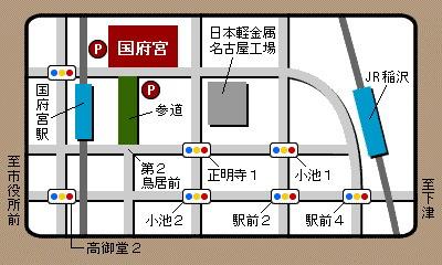 国府宮地図
