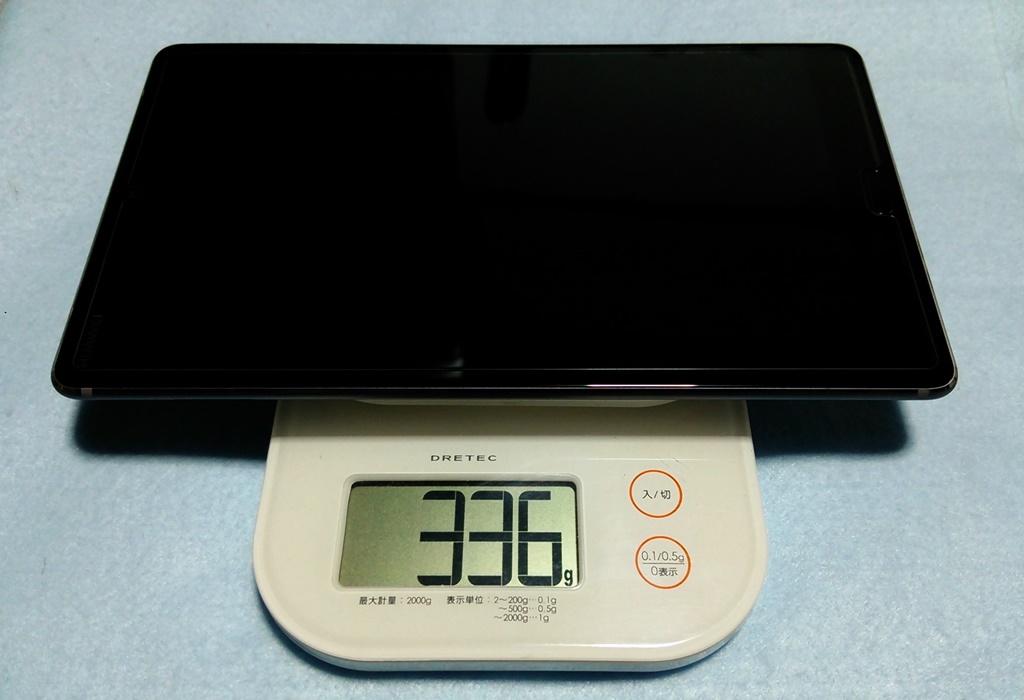 HUAWEI M5 Wi-Fi 8.4インチ 重さ