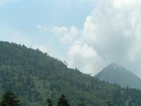 会場から見た山の風景