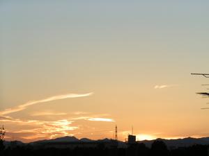 2006年10月の空