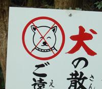 犬ご遠慮ください