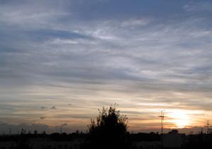 西の空200709