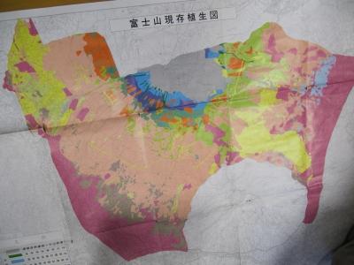 富士山現存植生図