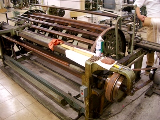 整経のためのレトロな機械