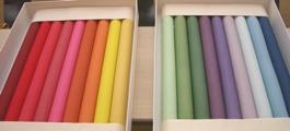 絹+天然染料=透明感のある美しい色!!