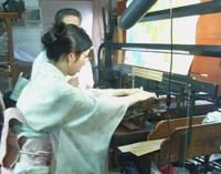 ピアノ式紋彫機にチャレンジ!