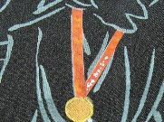メダルのアップ