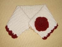 毛糸のモコモコ襟