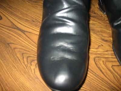 レザー製ブーツの補修
