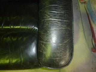 ソファーの色あせ色剥げの補修