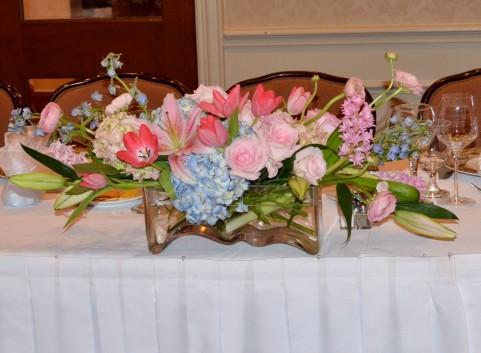結婚披露宴で使われる装花