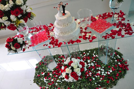 結婚披露宴 装花のアレンジ