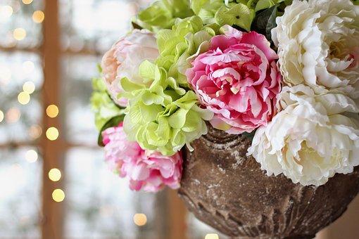 結婚披露宴 季節の装花