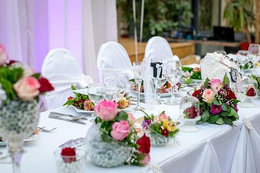 結婚披露宴のテーブル装花