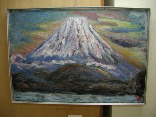 精進湖の富士