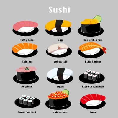 寿司無料イラスト