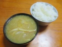 味噌汁、ご飯