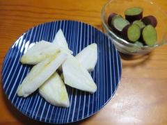 笹かま、サツマイモ甘煮