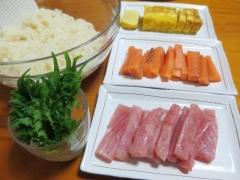 手巻き寿司の準備