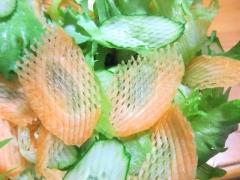 わっふるサラダピーラーで切った野菜