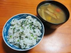 菜飯、スープ