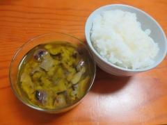 砂肝のコンフィ、ご飯