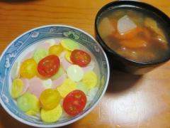 水玉ちらし寿司、スープ