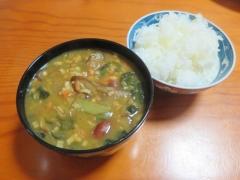 カレー風味スープ、ご飯