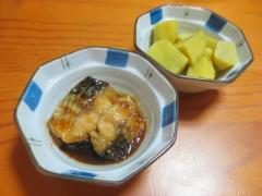 サバの照り焼き、サツマイモ煮物