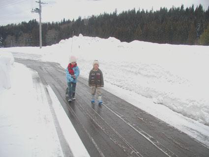 2012.3.3路面の雪