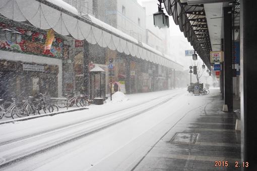 盛岡の吹雪