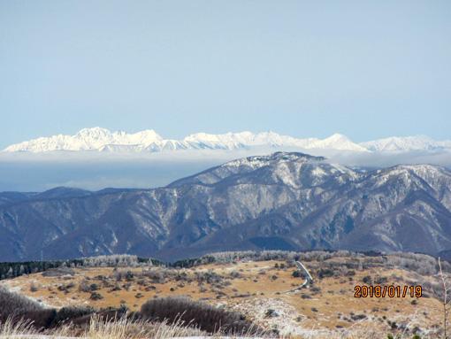 霧ヶ峰から北アルプス