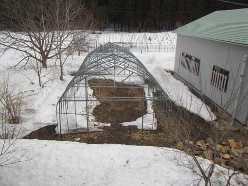 ハウスの雪状態