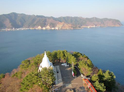 釜石港の眺め
